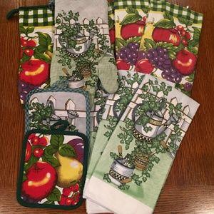 10- piece kitchen towel set